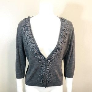 NEW YORK COMPANY Large Gray Open Front Cardigan